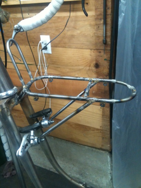 Small front rack roughed in.  It will get removable lowriders too.